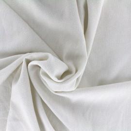 Iridescent embossed crepe fabric - white/gold x 10cm
