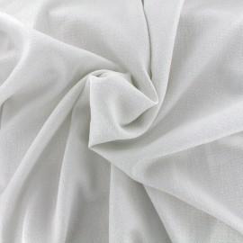 Iridescent embossed crepe fabric - white/silver x 10cm