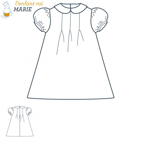 Marie Dress L'Enfant Roi sewing pattern - From 3 months to 4 years old