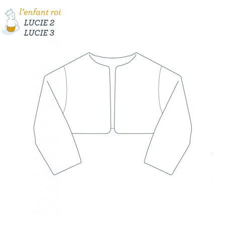 Lucie Jacket L'Enfant Roi sewing pattern - From 2 to 12 years old