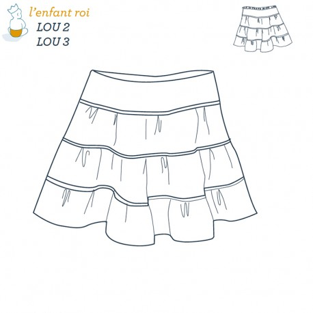 Lou Skirt L'Enfant Roi sewing pattern - From 2 to 12 years old