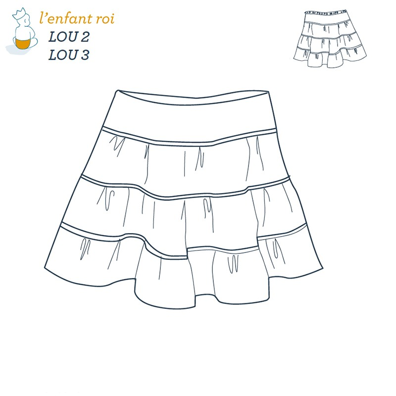 Lou skirt L\'Enfant Roi sewing pattern