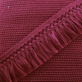 Ruban galon franges dentelle au crochet 65mm - bordeaux x 1m