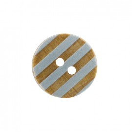 Douceur marine wooden button - pale blue