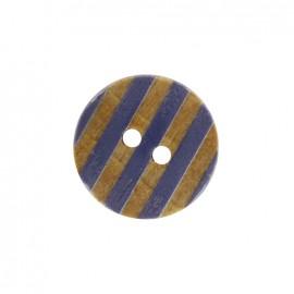 Bouton bois Douceur marine - bleu marine