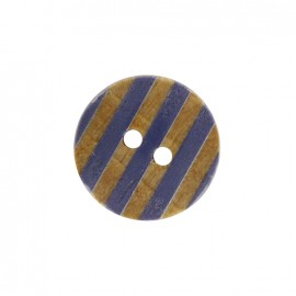 Douceur marine wooden button - marine blue