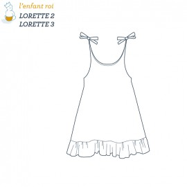 Lorette Dress L'Enfant Roi sewing pattern - From 2 to 12 years old