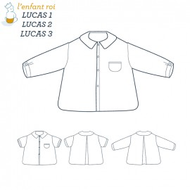 Patron l'Enfant Roi Chemise Lucas - de 6 mois à 12 ans