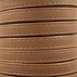 Leatherette strap - ochre x 1m