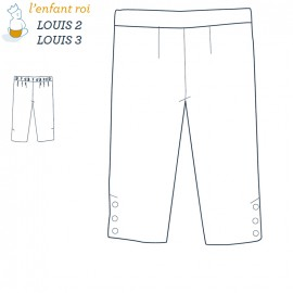 Louis Pants L'Enfant Roi sewing pattern - From 2 to 12 years old