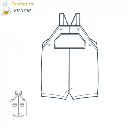 Victor overalls L'Enfant Roi sewing pattern - From 3 months de 2 years old