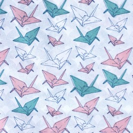 Tissu popeline Madame casse bonbon - Origami x 10cm