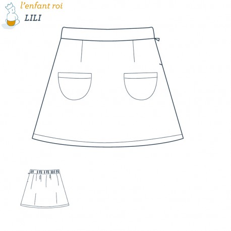 Lili Skirt L'Enfant Roi sewing pattern - From 2 to 12 years old