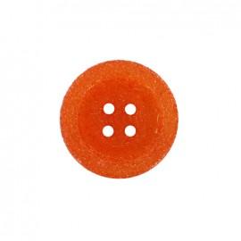 Bouton polyester Cassonade - orange