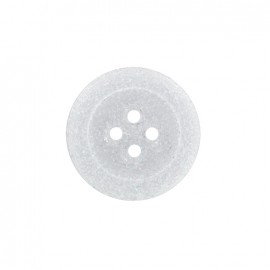 Bouton polyester Cassonade - blanc