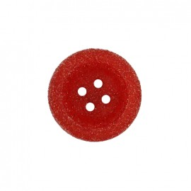 Bouton polyester Cassonade - rouge