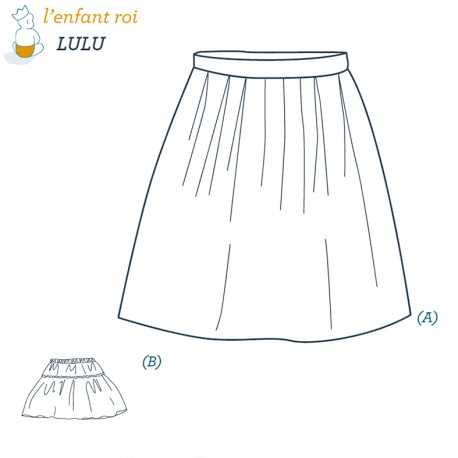 Lulu Petticoat L'Enfant Roi sewing pattern - From 2 to 12 years old