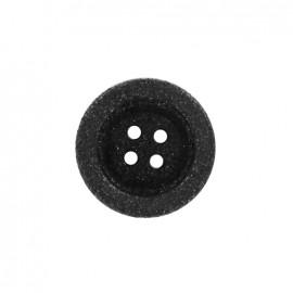 Bouton polyester Cassonade - noir