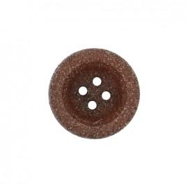 Bouton polyester Cassonade - marron