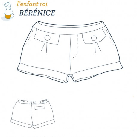 Bérénice short L'Enfant Roi sewing pattern - From 2 to 14 years old