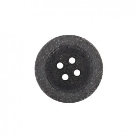 Bouton polyester Cassonade - gris anthracite