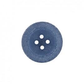 Bouton polyester Cassonade - bleu