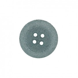 Bouton polyester Cassonade - gris