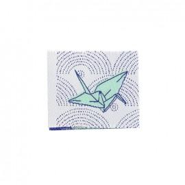 Etiquette tissée Madame Casse Bonbon - Origami vert