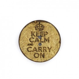 Bouton coco - keep calm and carry on