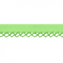 Biais replié à bord crocheté Petit rond - vert x 1m