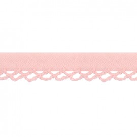 ♥ Coupon 170 cm ♥  Petit rond Picked edges folded up bias tape - pink
