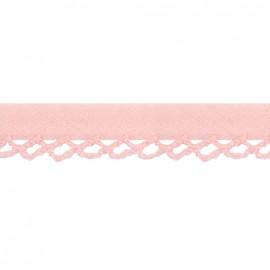 Biais replié à bord crocheté Petit rond - rose x 1m