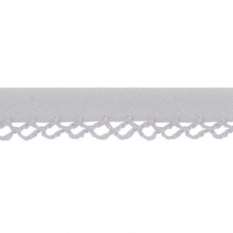Petit rond Picked edges folded up bias tape - grey x 1m