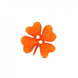 Printemps en fête polyester button - orange clover