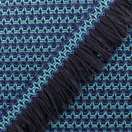 Ruban galon franges Olinda 49mm - bleu x 1m