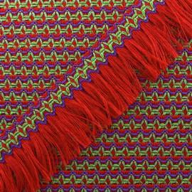 Ruban galon franges Olinda 49mm - rouge x 1m