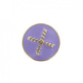 Bouton métal Beau rivage - violet