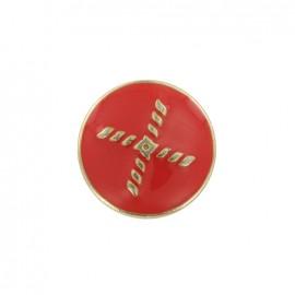 Bouton métal Beau rivage - rouge