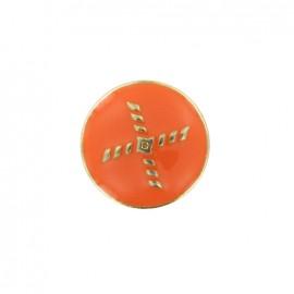Bouton métal Beau rivage - orange