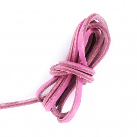 3 mm Flat Leather Strip - Candy Pink