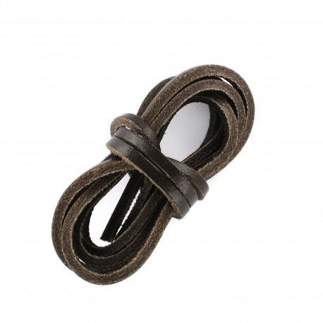 3 mm Flat Leather Strip - Black