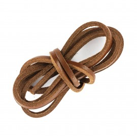 3 mm Flat Leather Strip - Brown