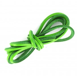 3 mm Flat Leather Strip - Green