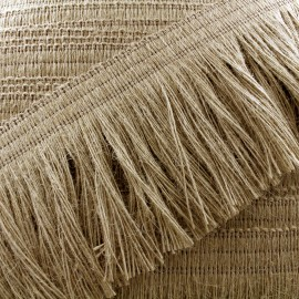 Ruban galon franges Jute - beige x 1m