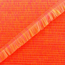 Ruban galon franges Neon 24mm - orange x 1m