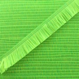 Neon fringe trimming ribbon 49mm - green x1m
