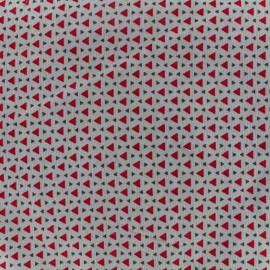 Tissu velours milleraies Poppy Beau - gris x 10cm