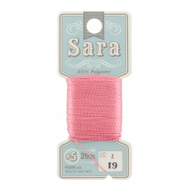 Embroidery thread Sara 20m - dragée n° 19
