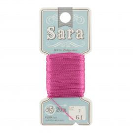 Embroidery thread Sara 20m - geranium n° 61