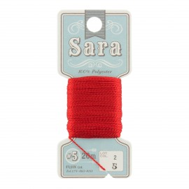 Embroidery thread Sara 20m - red n° 5